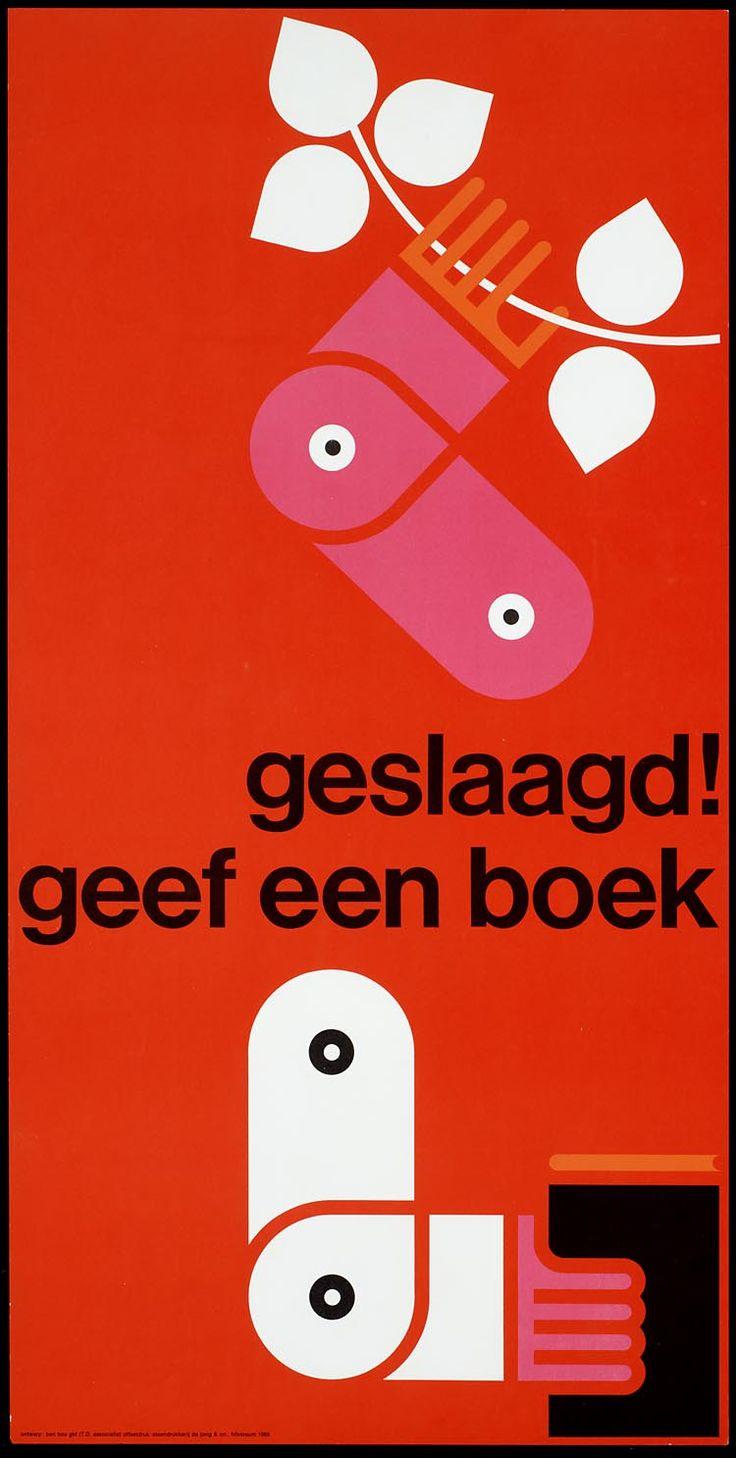 Title:Geslaagd geef een boek Ontwerper/art-director:   Bos,Ben, Date of creation:1965