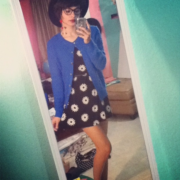 I should be doing homework but playing dress up is so much fun!  #ootn #nowheretogo #procrastination