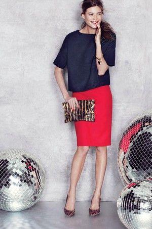 Красная юбка: с чем носить? Фото | Красные юбки, Юбка с ...