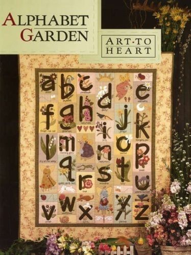 242 best alphabet quilts images on pinterest alphabet quilt quilt alphabet garden art to heart nancy halvorsen quilt book abc floral spell names spiritdancerdesigns Gallery