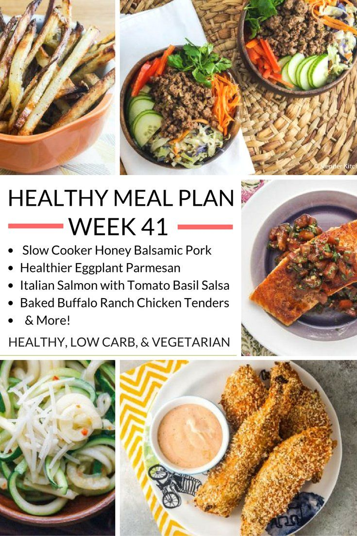 Healthy meal plans on pinterest prepping healthy meals and picky