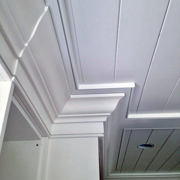 Remarkable Ideas For Crown Molding With Shiplap Ceiling Design Ceiling Trim Shiplap Ceiling Crown Molding