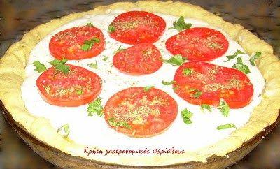 Τάρτα ξινομυζήθρας με ντομάτα (φρέσκια ή λιαστή) – Κρήτη: Γαστρονομικός Περίπλους