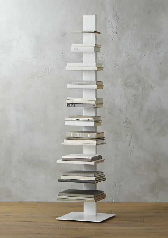 Array Tall White Bookcase