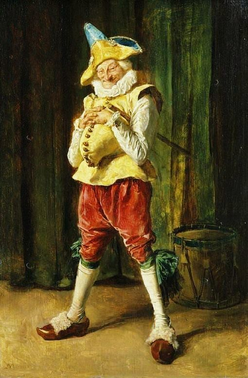 Portrait of Polichinelle by the French artist Ernest Meissonier (1815-1891) - London:The Wallace Collection (UK) - Style:Realism 1860