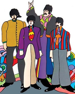 PETER MAX ART AND USING THE BEATLES AS HIS SUBJECT.