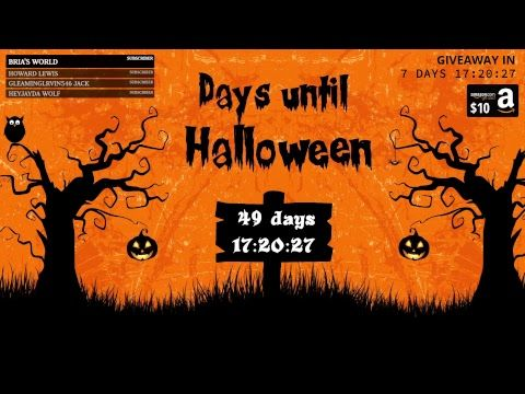 Here's my latest video! 🎃 Halloween Countdown 2017 - LIVE [24/7] 👻 https://youtube.com/watch?v=LYXZDsSqJ2I