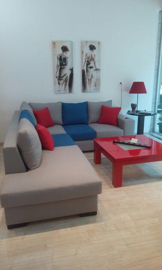 Minimal chic corner sofa and coffee table