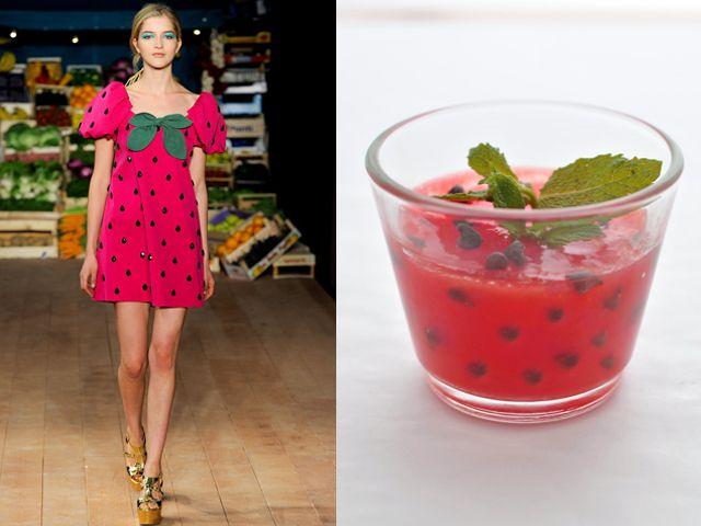Moschino Cheap & Chic ss 2012 / Sicilian watermelon pudding