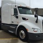 Peterbilt showcased its Advanced Driver Assistance Systems (ADAS) during a Technology Showcase Friday at Texas Motor Speedway.