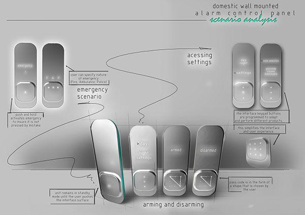RENDERING - control panel and PIR sensor by Natalia Tofas, via Behance