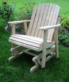 Silla de madera de roble barril Planeador AMISH al aire libre muebles