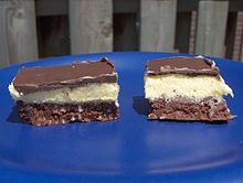 Cookbook:Chocolate and Custard Layered Dessert (Nanaimo Bar) - Wikibooks, open books for an open world