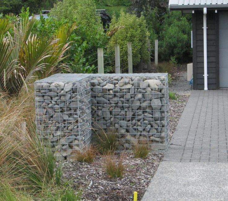 164 best gabions images on pinterest gabion wall for Gabion landscaping