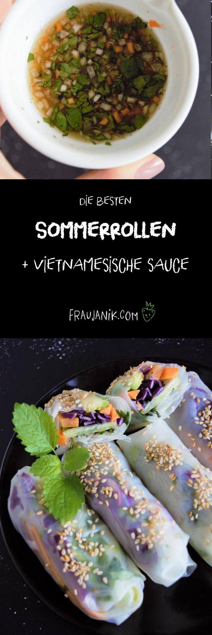 Sommerrollen + vietnamesische Sauce – Anna LE