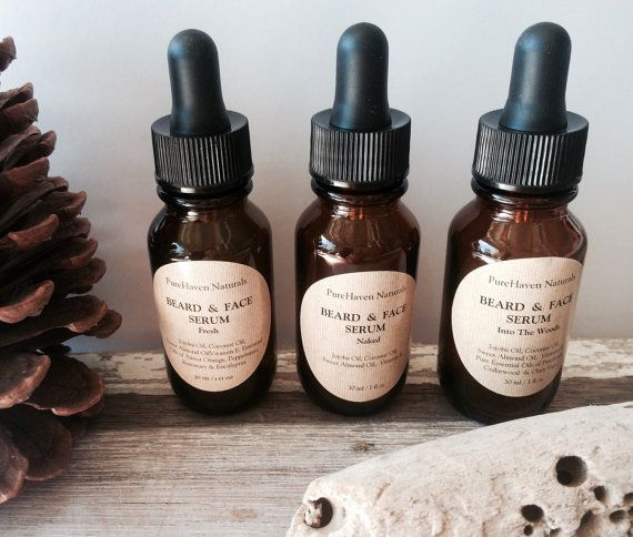 Men's Beard Oil. Natural Plant-Based Men's Skin-Care. Lightly Scented or Unscented. Choose from Fresh, Woodsy or Naked Blend. For Him. Gift