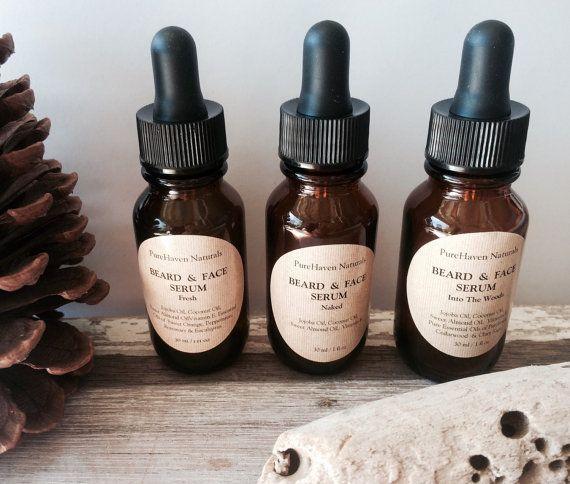 Men's Beard Oil / Face Oil Serum. Natural by PureHavenNaturals
