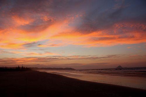Sunset Ohope Beach, New Zealand