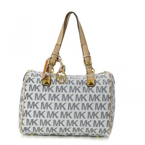 Michael Kors Logo Large Vanilla Shoulder Bags