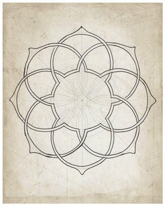 Geometric Line Drawing Moorish Geometry Arabic Islamic Art