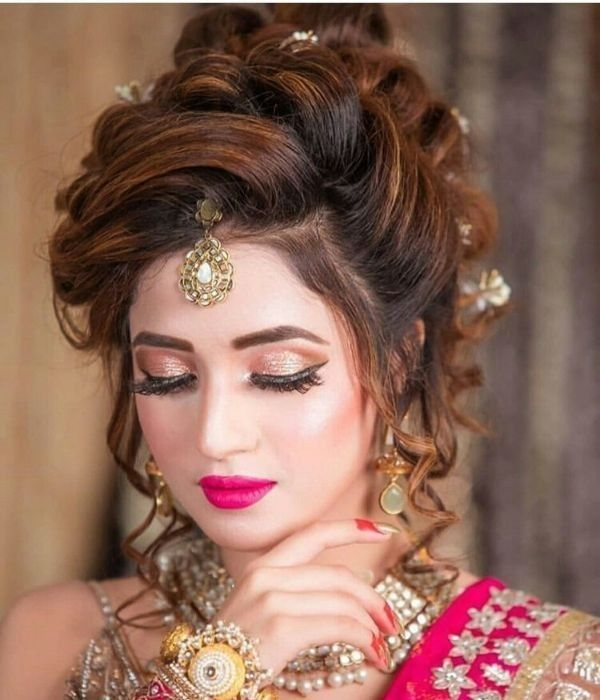 Dulha Dulhan In 2020 Bridal Hair Buns Bridal Hairstyle Indian Wedding Simple Wedding Hairstyles