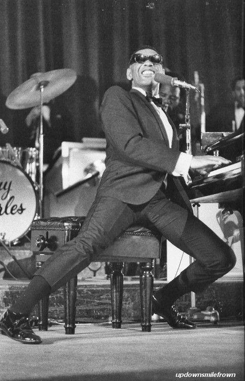 Ray Charles....I wish I had a job I was this enthusiastic about...oh to get paid to do what you love...