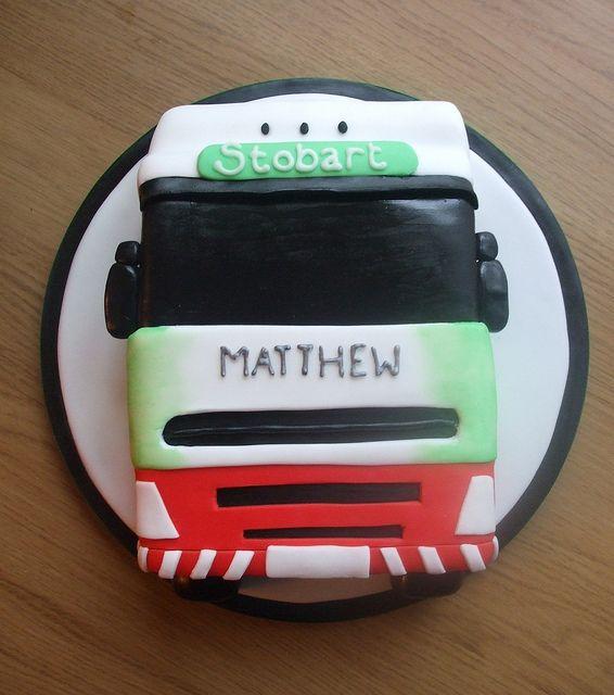 Eddie Stobart truck cake by trulycrumbtious, via Flickr