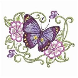 Sweet Heirloom Embroidery Design Pack: Oriental Flutterby 2