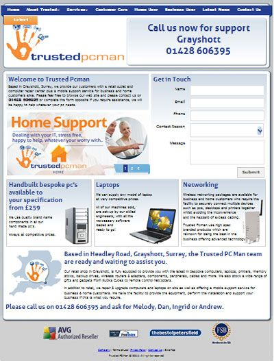 The Trusted PC Man (A business that really lives up to its name!) – Computer & Peripheral Sales, Onsite Computer Repair & Upgrades, Home & Business Support & Tuition, Broadband Arrangement Service, Wireless Networks.