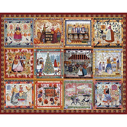 Village Welcome Quilt puzzle Americana Quilt Jigsaw Puzzle