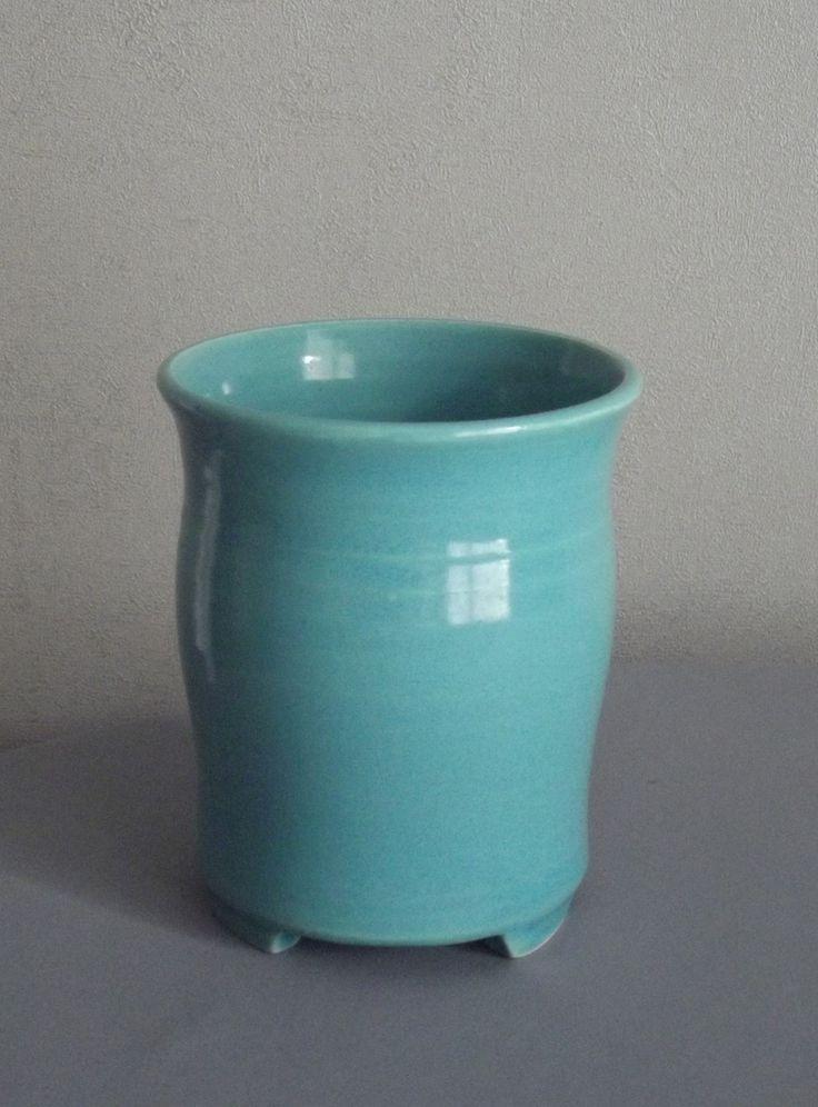 Égouttoir à couverts fait-main pour évier/ bleu turquoise
