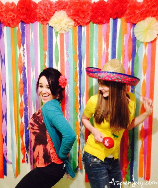 Fiesta Party ideas- super cute, cheap, and easy to make! #photobooth #fiestapartyideas #fiesta