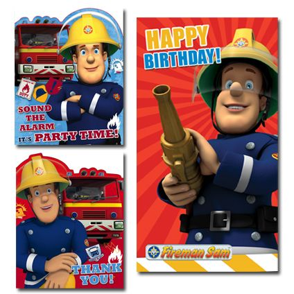 Fireman Sam Official Birthday Party Pack includes: 1 x Birthday Card, 1 x Pack of 10 Party Invitations, 1 x Pack of 10 Thank You Cards. Only £6.50 and FREE UK Delivery.   Take a closer look at https://www.danilo.com/Shop/Cards-and-Wrap/Birthday-Packs/Fireman-Sam-Birthday-Pack