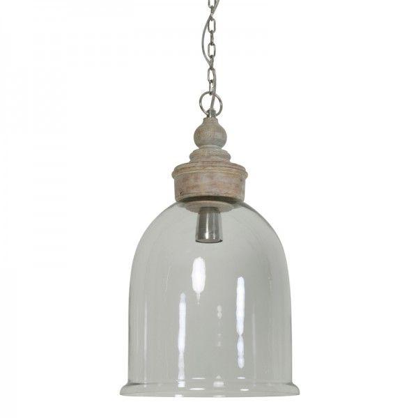 Hanglamp Senna Ø28x49,5 cm Glas / Hout