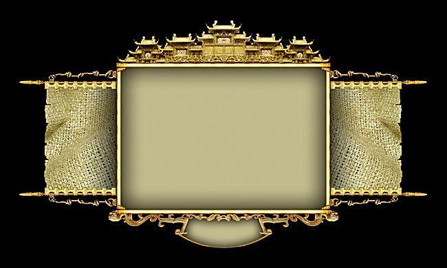 فريم صورة الديكور فن الخلفية Retro Background Black Metal Frame Frame