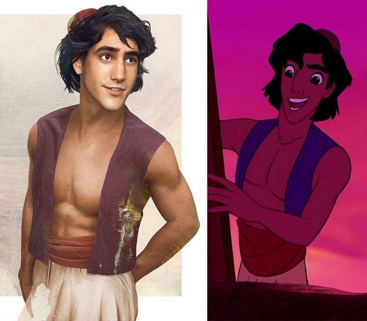 Este seria o aspecto que teriam os príncipes da Disney na vida real