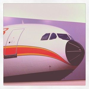 A bit of #Airbus #history #A300B #aircraft #aviation #vintage #airlines #airliner #flight #livery #design #nose #trannsport #travel #poster ...