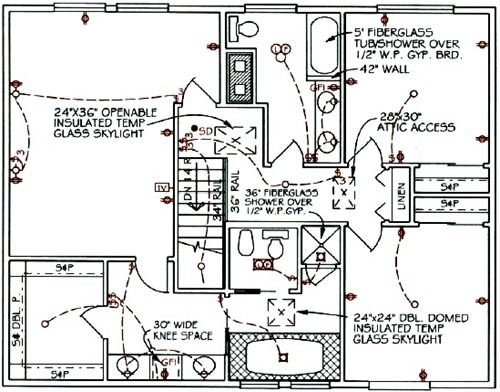 Home Office Blueprint And Wiring Design Layout