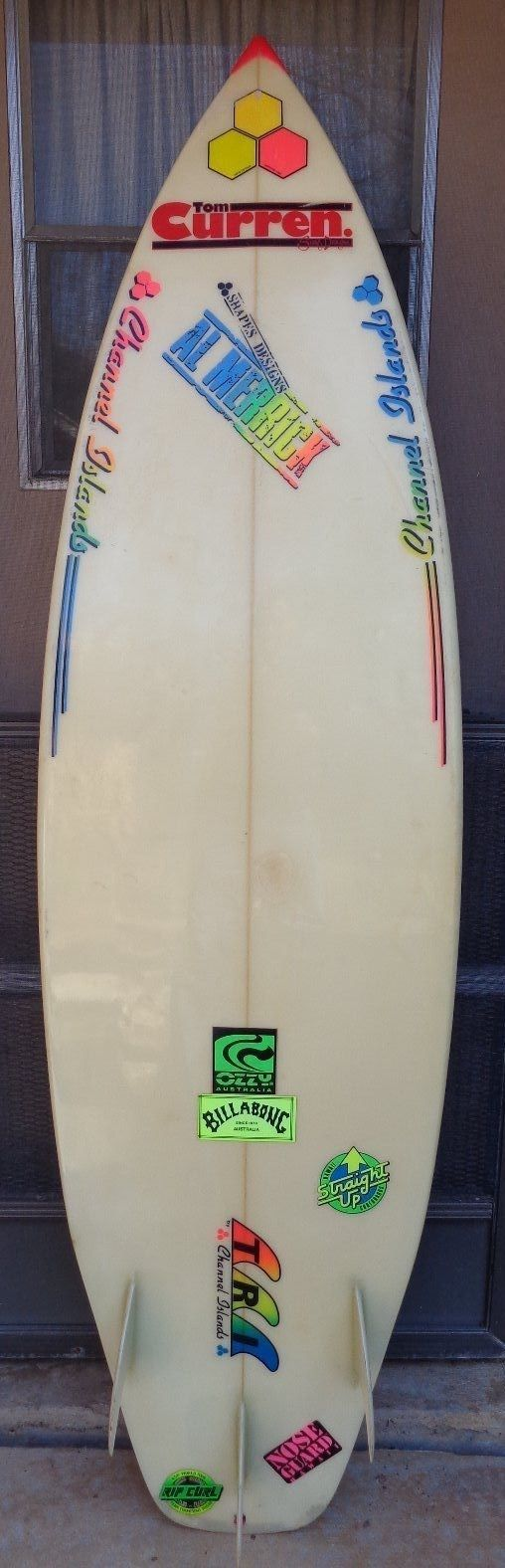 "Al Merrick Tom Curren Surf Designs 6'2"" 80s Channel Islands Surfboard 