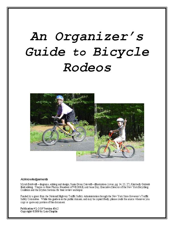 Bike Rodeo Organizer Guide