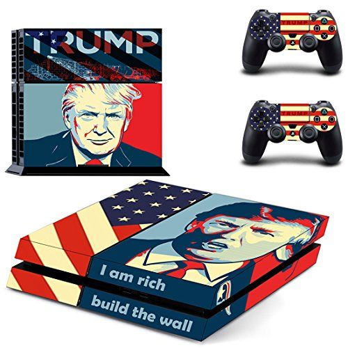 Donald Trump skinsPS4 Console Designer Skin for Sony PlayStation 4 System plus Two2 Decals for PS4 Dualshock Controller -- Want to know more, click on the image.Note:It is affiliate link to Amazon.