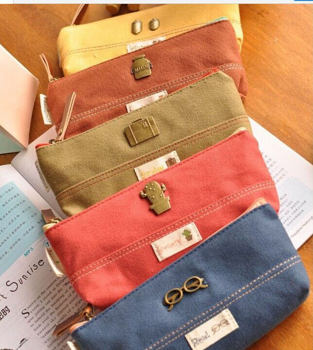 Wholesale hot selling new arrival  novelty Canvas pencil case Pencil Bags Size*.cm school & office supplies   for school office