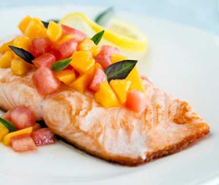 Salmon With Mango Salsa Recipe | Cooking Ideas | Pinterest