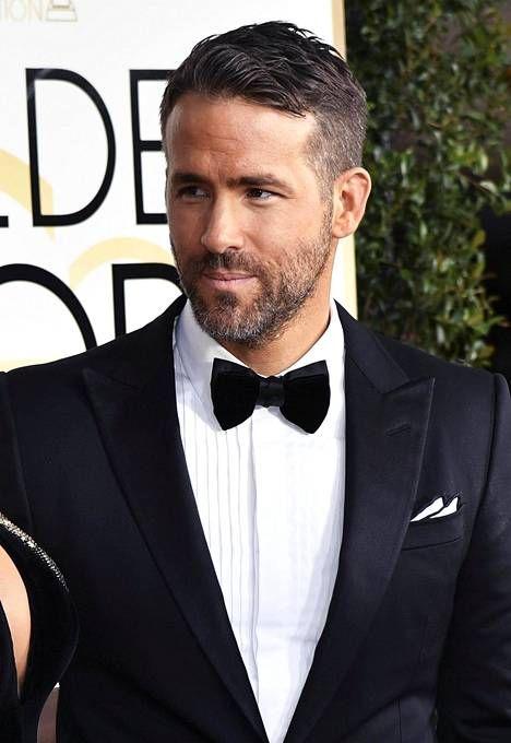 Näyttelijä Ryan Reynolds Golden Globe -gaalassa tammikuun alussa.