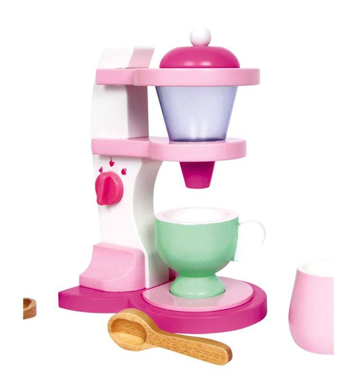 Giocattolo MACCHINA PER IL CAFFE' EMILIA in Legno cm 14x10x21 h per bambini eta' 3 AnniUn servizio da caffè in colori pastelli bellissimi! 2 tazzine, 2 piattini, una zuccheriera ed una macchina da caffè che potrebbero arricchire le cucine per bambiniDimensioni cm 14 x 10 x 21 hColori atossici -Marchio CEAdatto per bambini di età superiore a 36 mesi.