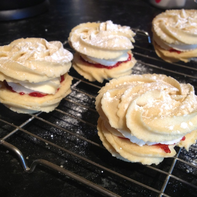 Homemade Viennese whirls from the Great British Bake Off book