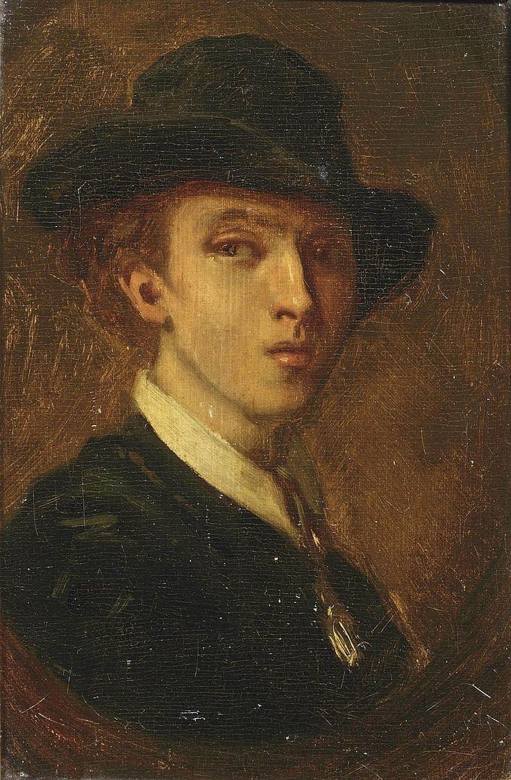 Jacob Maris - Portret van de jonge schilder Willem Maris (1860)
