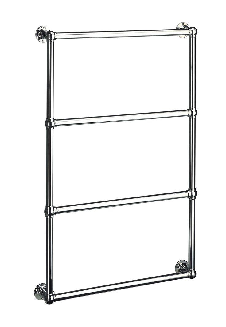 Handtuchwärmer BALLERINA 7WM mit 4 Querstreben, Wandmontage Gesamtgrösse: 1275 x 525 x 125mm Rohr: Ø 31,8mm Alle Handtuchwärmer können über Zentralheizung, rein elektrisch oder Dual betrieben werden