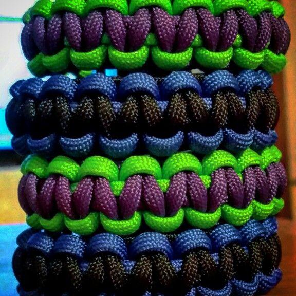 Paracord Bracelets I made -CSab