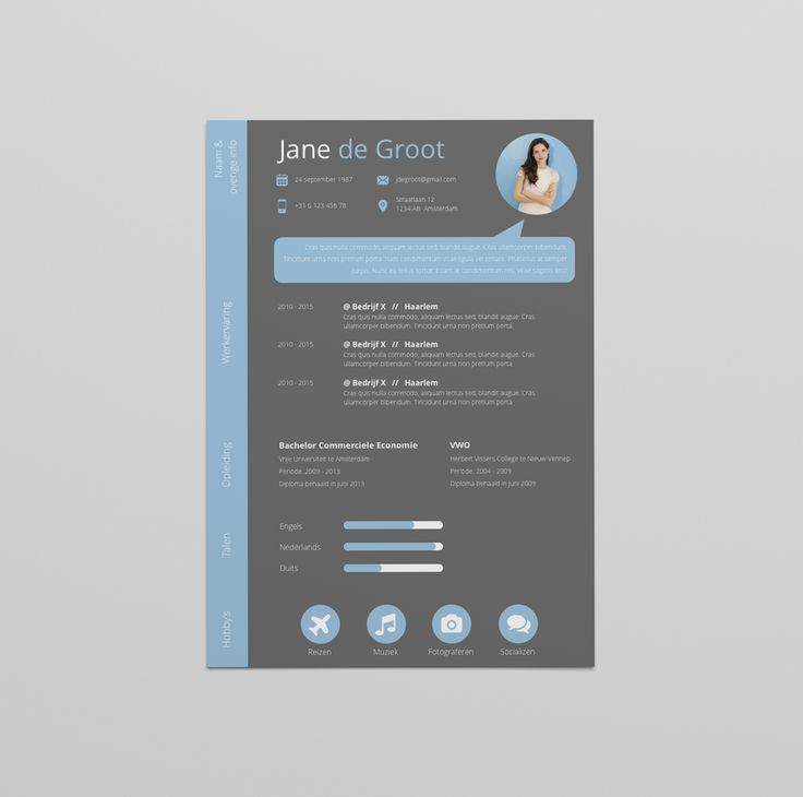 25 best CV design images on Pinterest Curriculum, Cv design and - make my resume stand out